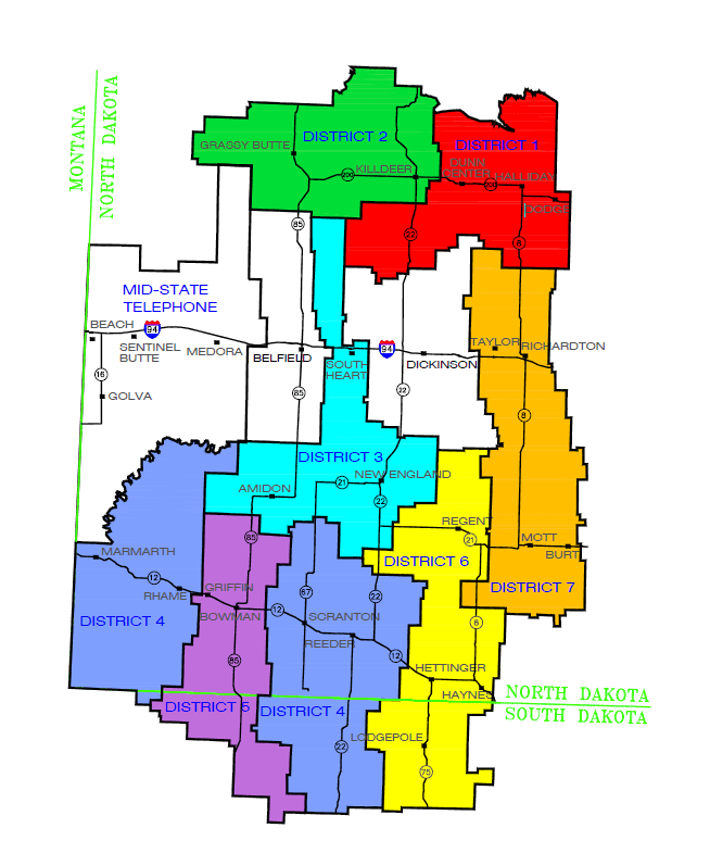 Consolidated Telcom Cooperative District Maps